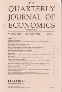Image for The Quarterly Journal of Economics Vol. 129 Issue 1 Feb. 2014, ISSN: 0033-5533