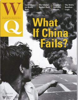 Image for Wilson Quarterly, Autumn 2010 (What If China Fails?) (Volume 34, Number 4)