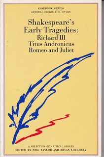 Image for Shakespeare's Early Tragedies (Casebooks Series)