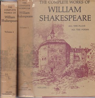 "Image for ""The Complete Works of William Shakespeare Arranged in Their Chronological Order"" (Volumes 1 and 2)"