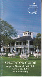 Image for Spectator?s Guide (Master?s) Augusta National Golf Club April 5-11, 2004