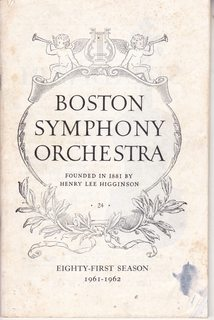 Image for Boston Symphony Orchestra Concert Program, Subscription Series, Season 81 (1961-1962), Week 24 April 27-28