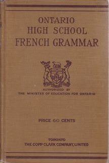 Image for Ontario High School French Grammar