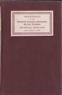 Image for Proceedings of the Fifteenth Annual Conference on City Planning: Baltimore, Maryland, April 30, May 1-2, 1923