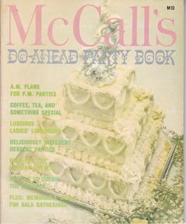 Image for McCall's Do-Ahead Party Book, Vol. 10
