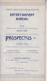Image for Young Men's Christian Association Entertainment Bureau: Prospectus 1892-93