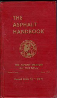 Image for The Asphalt Handbook (July, 1962)