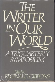 Image for The Writer in Our World: A Triquarterly Symposium