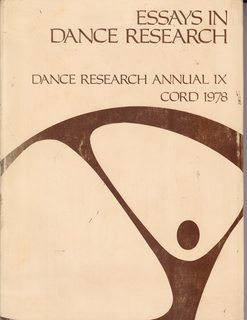 Image for Essays in Dance Research (Dance Research Annual, IX)
