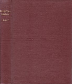 Image for PRABUDDHA BHARATA OR AWAKENED INDIA 1987 (Vol.92) 12 issues in one volume