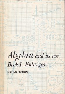 Image for Algebra and Its Use/ Book 1 Enlarged Edition (2nd Edition) with answers