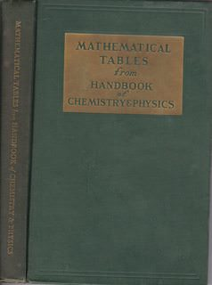 Image for Mathematical Tables: From Handbook of Chemistry and Physics, Tenth Edition
