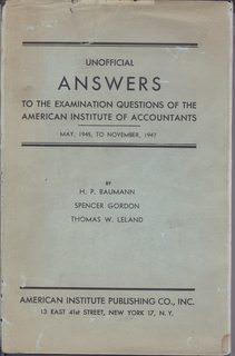 Image for Uniform Certified Public Accountant Examinations: Unofficial Answers to Examination Questions: 1945-1947