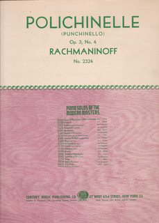 Image for Rachmaninoff - Polichinelle Op. 3 No. 4 - Piano Solo
