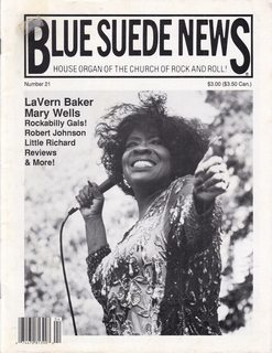 Image for Blue Suede News Issue #21 - Winter 1992/1993 LaVern Baker Cover