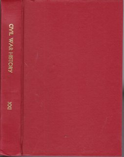 Image for Civil War History: A Journal of the Middle Period; Volume XXI, Numbers 1-4, March- December 1975