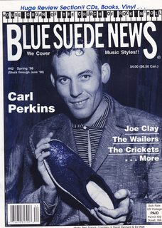 Image for Blue Suede News #42 Spring 1998 Carl Perkins Cover