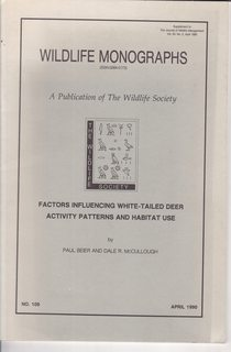 Image for Factors Influencing White-Tailed Deer Activity Patterns and Habitat Use
