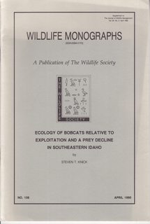 Image for Ecology of Bobcats Relative to Exploitation and a Prey Decline in Southeastern Idaho (Wildlife Monographs)