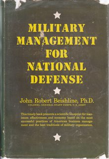 Image for Military Management for National Defense