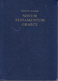Image for Nestle-Aland Novum Testamentum Graece (Greek Edition) (2006-07-01)