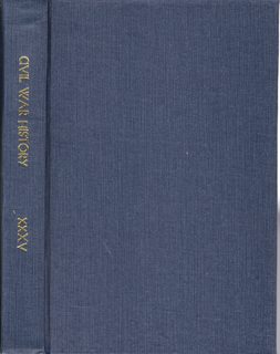 Image for Civil War History: A Journal of the Middle Period; Volume XXXV Numbers 1-4, March- December 1989