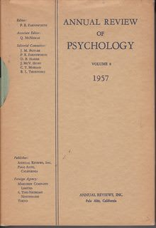 Image for Annual Review Of Psychology, Volume 8, 1957 by Paul R. Farnsworth, Quinn McNemar