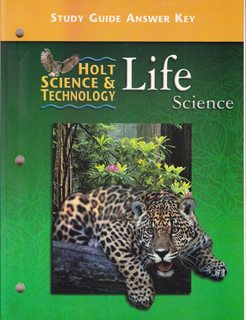 Image for Holt Science and Technology, Life Science, Study Guide Answer Key
