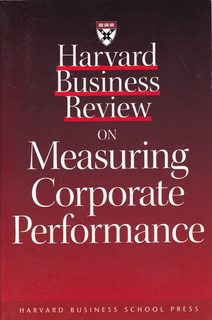 Image for Harvard Business Review on Measuring Corporate Performance (Harvard Business Review Paperback Series)