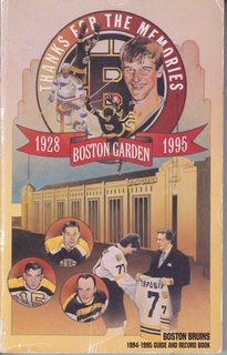 Image for Boston Bruins Guide and Record Book 1994-1995