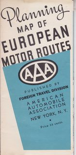Image for Planning Map of European Motor Routes