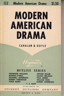 Image for Modern American drama (Hymarx outline series)