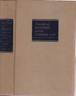 Image for Principles of Business and the Federal Law