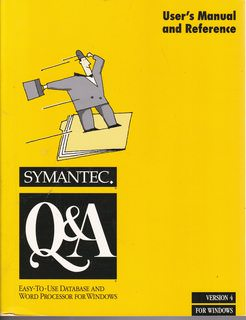 Image for Symantec Q&A User's Manual and Reference: Easy-to-Use Database and Word Processor for Windows (Version 4 for Windows)
