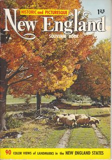 Image for Historic and Picturesque New England Souvenir Book: 90 Color Views of Landmarks in the New England States