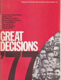 Image for GREAT DECISIONS 1977, '77
