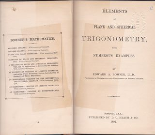 Image for Elements of plane and spherical trigonometry,: With numerous examples