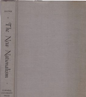 Image for New Nationalism by L. L. Snyder (1968-08-06)