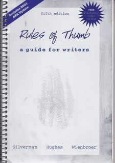 Image for Rules of Thumb: Guide for Writing, MLA Updated
