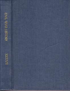Image for Civil War History: A Journal of the Middle Period; Volume XXXVII Numbers 1-4, March- December 1991