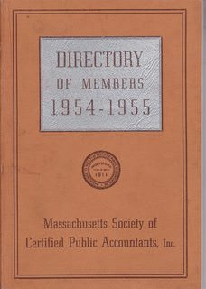 Image for Directory of Members 1954-1955: Massachusetts Society of Certified Public Accountants