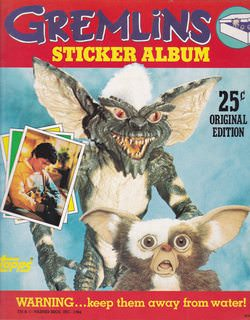Image for Gremlins Sticker Album: Warning...Keep them Away from Water