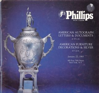 Image for American Autograph Letters & Documents (at 10 am) American Furniture Decorations & Silver (at 1 pm); Sale No. 478 Jan. 27, 1983 Phillips Son & Neale, 406 East 79th St New York NY