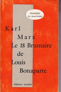 Image for Le 18 brumaire de Louis Bonaparte