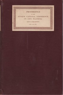 Image for Proceedings of the Fourth National Conference on City Planning Boston, MA May 27-29, 1912