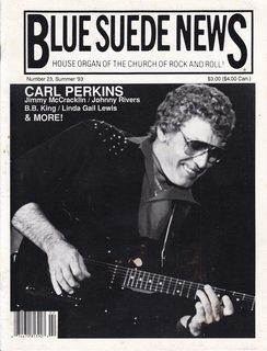 Image for Blue Suede News #23 Summer 1993 Carl Perkins cover