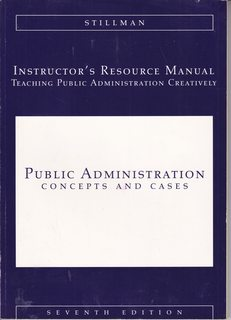 Image for Instuctor's Resource Manual: Teaching Public Administration Creatively (Public Administration: Concepts and Cases)
