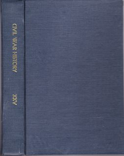 Image for Civil War History: A Journal of the Middle Period; Volume XXV Numbers 1-4, March- December 1979