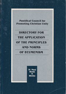 Image for Directory for the Appication of the Principles and Norms of Ecumenism