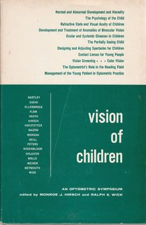 Image for VISION OF CHILDREN An Optometric Symposium